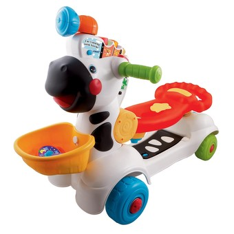 VTech Baby 3-in-1 Zebra Scooter