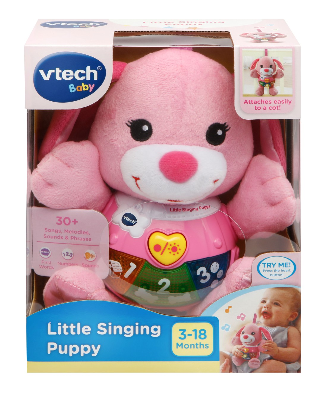 VTech Baby Little Singing Puppy Pink - VTech Toys Australia