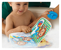 Fully waterproof interactive bath book