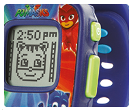 Includes an alarm, timer & stopwatch functions and 4 built-in games.