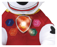 Includes a fun light up badge and a sweet dreams lullaby button that plays 15 minutes of soothing tunes.