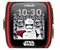 Features 30+ '3D style' STAR WARS<sup>™</sup> digital and analogue clock faces.