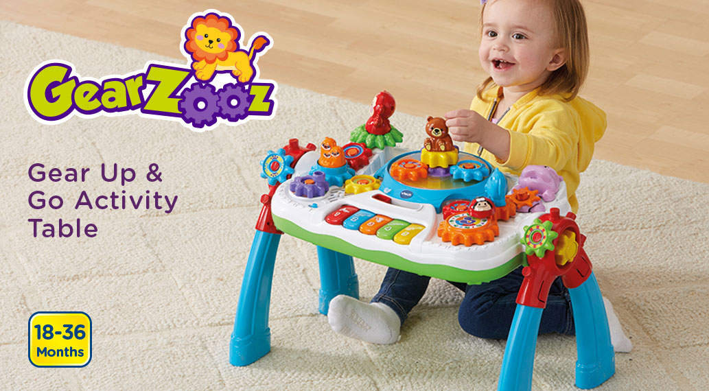GearZooz. Gear Up & Go Activity Table. 18-36 Months.