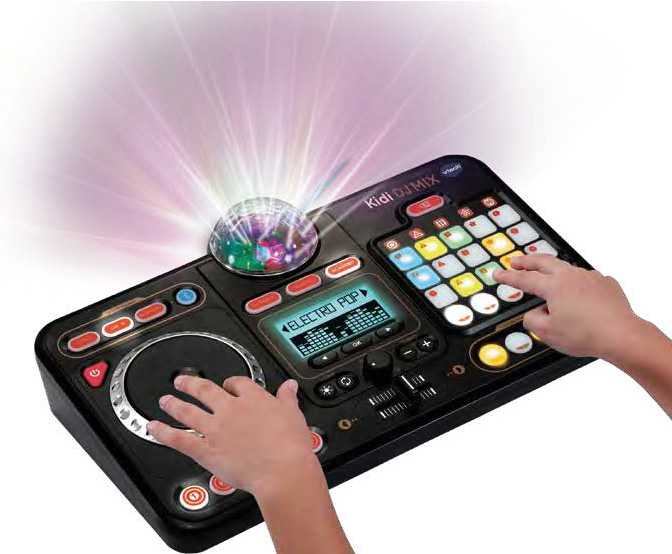 Mix and jam with a DJ turntable, 15 built-in songs and 2000+ sound combinations.