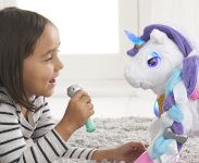 Sing-along with Myla using the magic microphone.