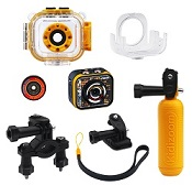 Includes accessories such as mounts and a floating handle to take photos anywhere, anytime!