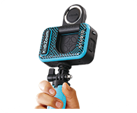 Use the flip-up lens to capture the perfect selfie video.