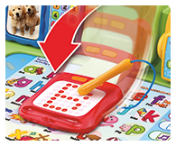 Light up writing pad with stylus for letter & number writing