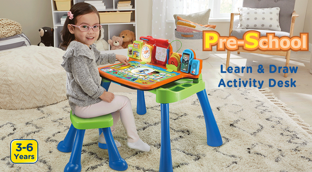 Learn & Draw Activity Desk. 3-6 Years.