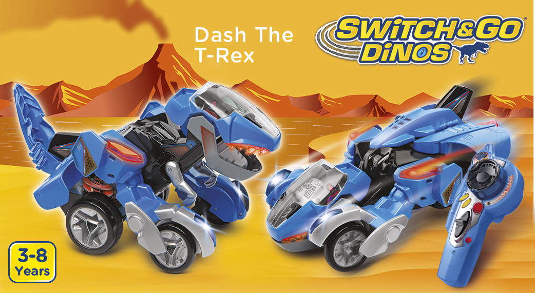 Switch&Go Dinos. Dash The T-Rex. 3-8 Years.