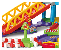 Features 4 SmartPoints locations and 4 flexible track sections with support for two tier play.