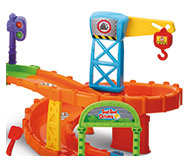Manipulative features include; swinging bridge track, turning flag, open & close gates, loading points and crane.