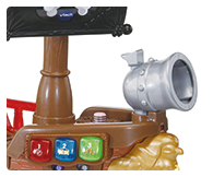 Press the cannon button to launch the cannonball and hear it soar!