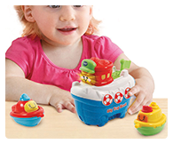 Chug into the learning zone with the Toot-Toot Splash Tugboat by VTech.