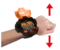 Shake your wrist when wearing the wristband