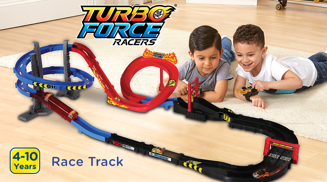 Turbo Force Racers. Race Track. 4-10 Years.