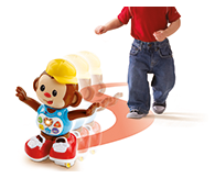 Dances and skates around, with front and back sensors which detect when your child is near