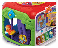 Includes beads and gears for motor skill development, sliding monkey and butterfly encourage interaction and shape sorter develops hand-eye coordination.
