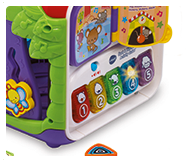 The cube is packed full of fun, interactive phrases, sounds effects and includes 4 sing-along songs and 10 melodies.