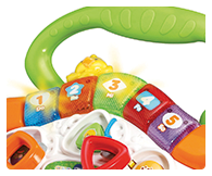 5 light up buttons, shape sorters, gears, animal buttons & role-play phone